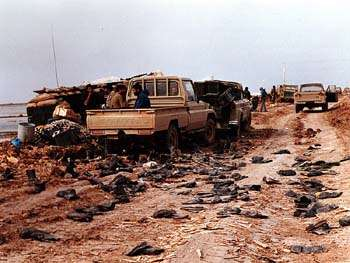 Captured Iraqi Positions